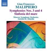 Malipiero, G.F.: Symphonies, Vol. 1  - Nos. 3 and 4 / Sinfonia Del Mare