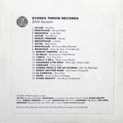Stones Throw Records 2003 Sampler