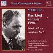 MAHLER: Das Lied von der Erde (Walter) (1936-1938)