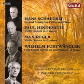 Violin Sonatas by Schaeuble, Hindemith, Reger, Furtwängler
