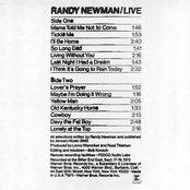 Randy Newman / Live