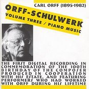 ORFF: Orff-Schulwerk, Vol. 3: Piano Music