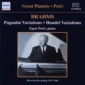 BRAHMS: Paganini and Handel Variations (Petri) (1937-1940)