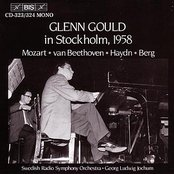 GOULD PLAYS THE PIANO IN STOCKHOLM, 1958