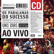 album Uns Dias Ao Vivo by Os Paralamas Do Sucesso