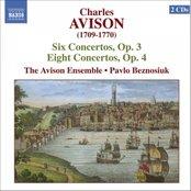 AVISION, Charles: 6 Concerti, Op.3, 8 Concerti, Op. 4