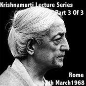 Krishnamurti Lecture Series Rome 1958 Vol. 3