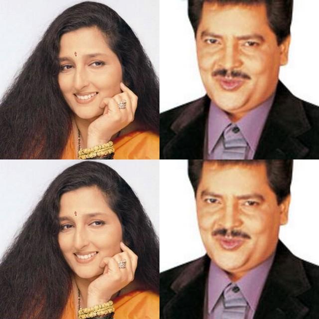 Udit Narayan & Anuradha Paudwal