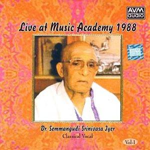 Bild för 'Live At Music Academy 1988 (Semmangudi Srinivasa Iyer)'