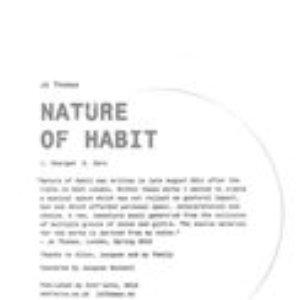 Imagem de 'Nature of Habit'