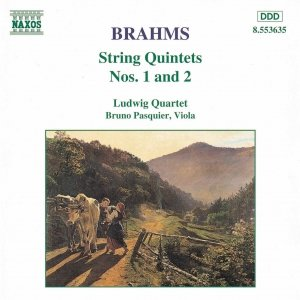 """BRAHMS: String Quintets Nos. 1 and 2""的封面"
