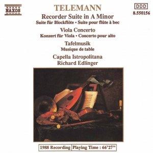 Image for 'TELEMANN: Viola Concerto / Recorder Suite in A minor / Tafelmusik'