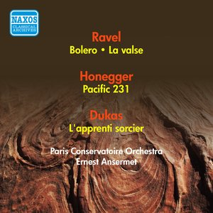 Image for 'Ravel, M.: Bolero / Honegger, A.: Pacific 231 / Dukas, P.: The Sorcerer's Apprentice / Ravel, M.: La Valse (Ansermet) (1954)'