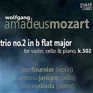 """""""Mozart: Trio No. 2 in B Flat Major for Violin, Cello & Piano, K. 502""""的封面"""