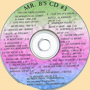 """Image for 'Mr . B's CD #3 Featuring!! """"The Girl From Impanema""""'"""