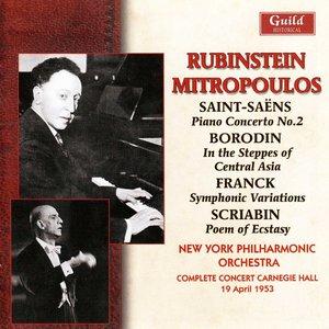 Image pour 'Rubinstein & Mitropoulos - Carnegie Hall 1953'