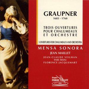 Image for 'Graupner : Trois ouvertures pour chalumeaux & orchestre'