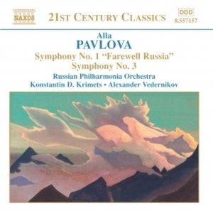 Image pour 'PAVLOVA: Symphonies Nos. 1 and 3'