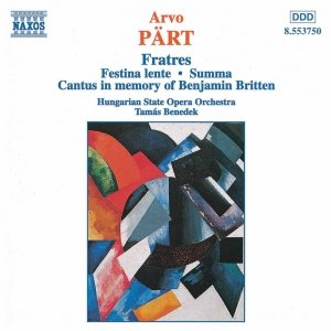 Image for 'Fratres (for cello and piano)'