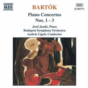 """BARTOK: Piano Concertos Nos. 1, 2 and 3""的封面"