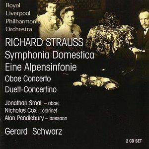 Image for 'Strauss: Symphonia Domestica / Eine Alpensinfonie / Oboe Concerto / Duett-Concertino'