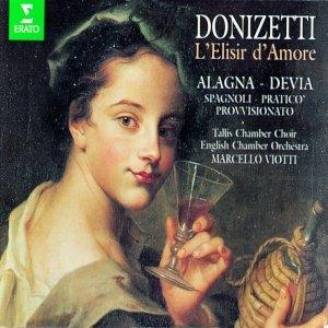 "Image for 'Donizetti : L'elisir d'amore : Act 2 ""Io son ricco e tu sei bella"" [Dulcamara, Adina, Chorus] ""Silenzio! E qua il notaro"" [Belcore, Dulcamara, Adina, Giannetta, Chorus] ""Le feste nuziali"" [Dulcamara, Nemorino]'"