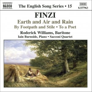 Immagine per 'FINZI: Earth and Air and Rain / To a Poet / By Footpath and Stile'