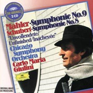 """Bild för 'Mahler: Symphony No.9 / Schubert: Symphony No.8 """"Unfinished""""'"""