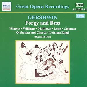 Bild för 'GERSHWIN: Porgy and Bess (Winters, Williams, Long) (1951)'