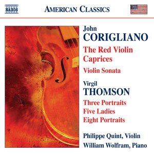 Image for 'Corigliano: The Red Violin Caprices / Violin Sonata / Thomson, V.: 5 Ladies / Portraits'