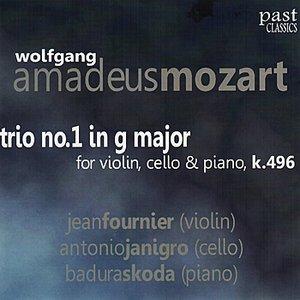 """""""Mozart: Trio No. 1 in G Major for Violin, Cello & Piano, K. 496""""的封面"""