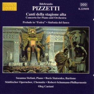 Image for 'PIZZETTI: Canti Della Stagione Alta / Sinfonia del fuoco'