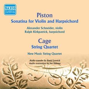 Image for 'Piston: Violin Sonatina - Cage: String Quartet in Four Parts'
