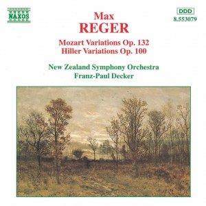 Bild für 'REGER: Mozart Variations Op. 132 / Hiller Variations Op. 100'
