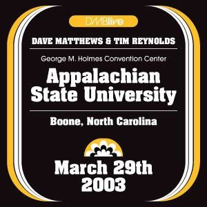 Image for '2003-03-29 George M. Holmes Convention Center, Appalachian State University, Boone, NC'