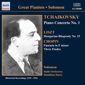Bild för 'TCHAIKOVSKY: Piano Concerto No. 1/ CHOPIN: Etudes (Solomon) (1929-1930)'