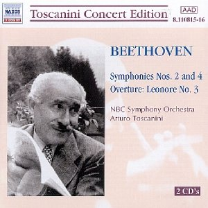 Image for 'BEETHOVEN: Symhonies No. 2 and 4 (Toscanini)'