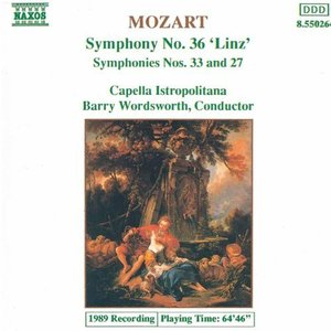Image for 'Mozart: Symphonies Nos. 36, 33 and 27'