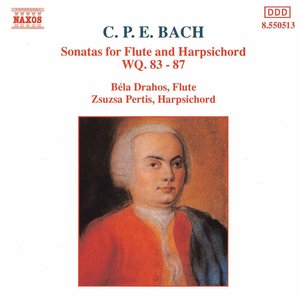 Image for 'Bach, C.P.E.: Sonatas for Flute and Harpsichord, Wq. 83-87'