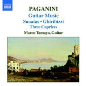Image for 'Guitar Music: Grand Sonata in A major / Sonata No. 4 in D major / Ghiribizzi Nos. 15, 16, 37, 38, 22 / Sonata No. 30 in A major / Sonata No. 6 in F major / Caprice Nos. 11, 5, 24 (guitar: Marco Tamayo)'