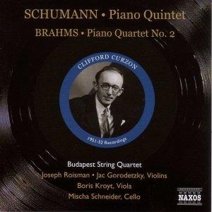 Image pour 'SCHUMANN: Piano Quintet, Op. 44 / BRAHMS: Piano Quartet No. 2 (Curzon, Budapest Quartet) (1951-1952)'
