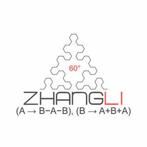 Image for 'Sierpinski Triangle (A → B−A−B), (B → A+B+A)'