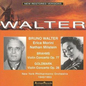 Image for 'Johannes Brahms : Vilin Concerto Op.77 - Karl Goldmark : Violin Concerto Op.28'