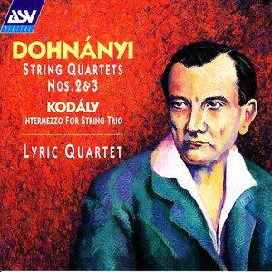 Imagen de 'Dohnanyi: String Quartets Nos. 2 and 3 / Kodaly: Intermezzo for String Trio'