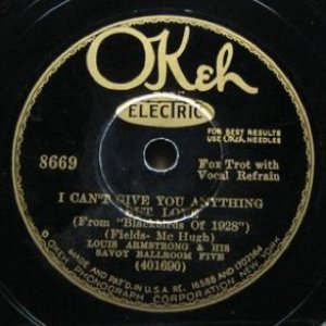 Image for 'I Can't Give You Anything but Love / No One Else but You'
