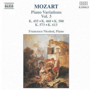 Image for '12 Variations in B flat  major on Allegretto, K. 500'