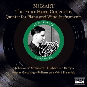 Image for 'MOZART: 4 Horn Concertos / Piano and Wind Quintet (Brain, Karajan, Gieseking) (1953, 1955)'