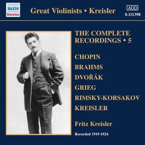 Image for 'Kreisler: Complete Recordings, Vol. 5 (1919-1924)'