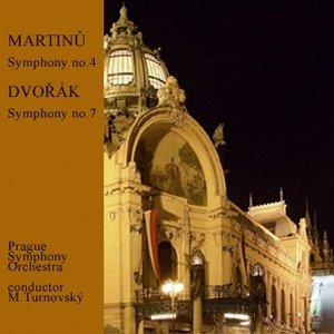 Bild för 'MARTINŮ: Symphony no.4, DVOŘÁK: Symphony no.7'