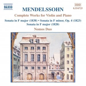 Image pour 'MENDELSSOHN: Works for Violin and Piano (Complete)'